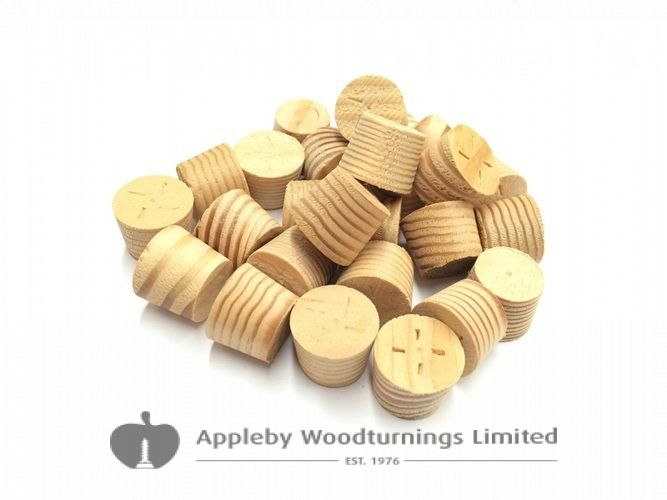 "1/2"" Columbian Pine Tapered Wooden Plugs 100pcs"