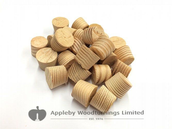 "1/2"" Douglas Fir Tapered Wooden Plugs 100pcs"