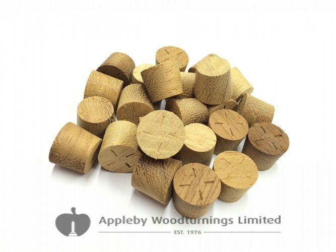 12mm Iroko Tapered Wooden Plugs 100pcs