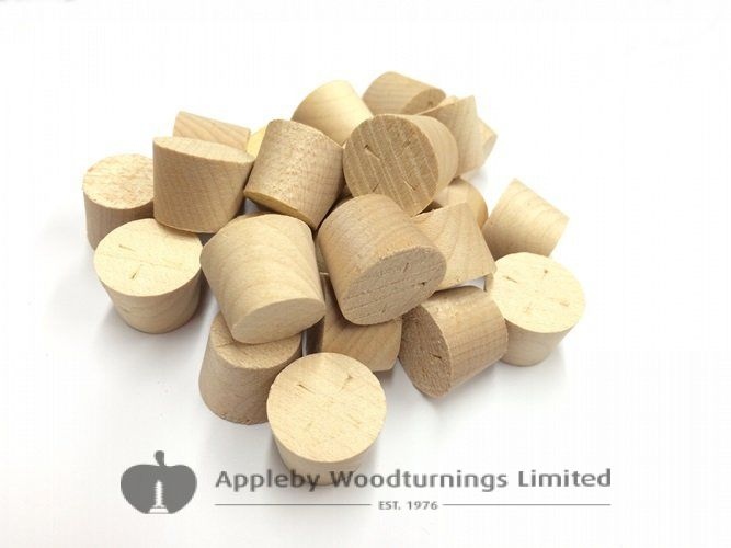 19mm MAPLE Tapered Wooden Plugs 100pcs