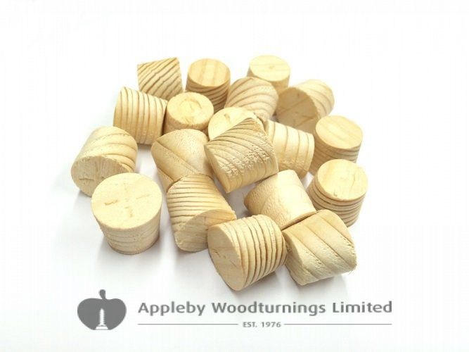 15mm Spruce Tapered Wooden Plugs 100pcs