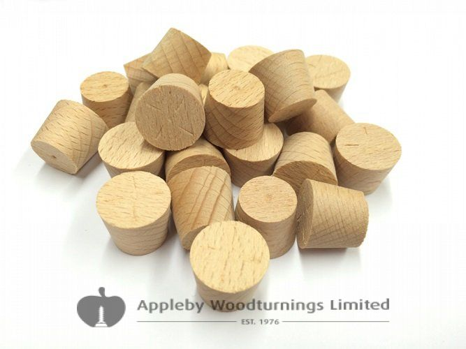 19mm Steamed Beech Tapered Wood Pellets 100pcs