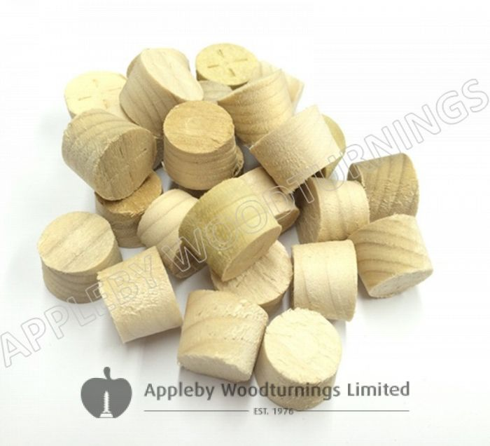 15mm Tulipwood Tapered Wooden Plugs 100pcs