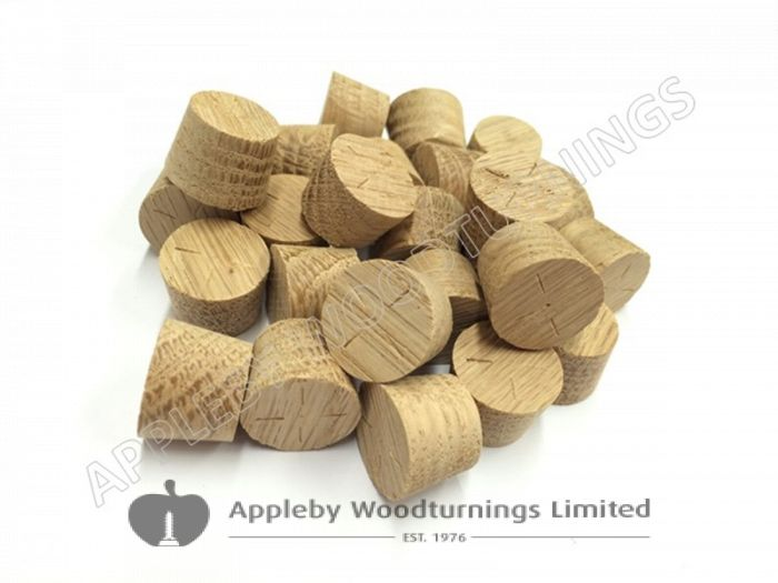 16mm American White Oak Tapered Wooden Plugs 100pcs