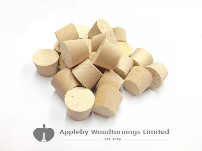 28mm MAPLE Tapered Wooden Plugs 100pcs