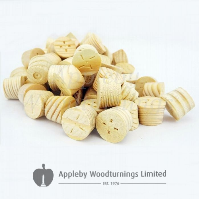 16mm Joinery Grade Redwood Tapered Wooden Plugs 100pcs