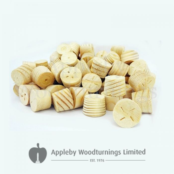 17mm Softwood / Pine Tapered Wooden Plugs 100pcs