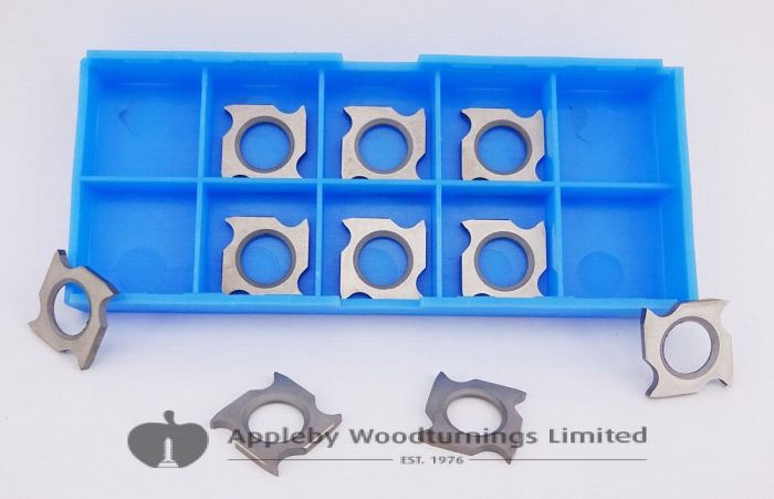 18 x 18 x 2.45mm Square Reversible Hook Tip Grooving Knives