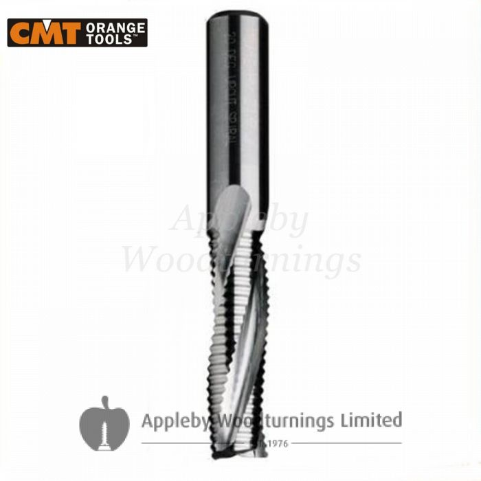 20mm dia x 60mm cut CNC Roughing Spiral Router Z=3 Positive L/H CMT