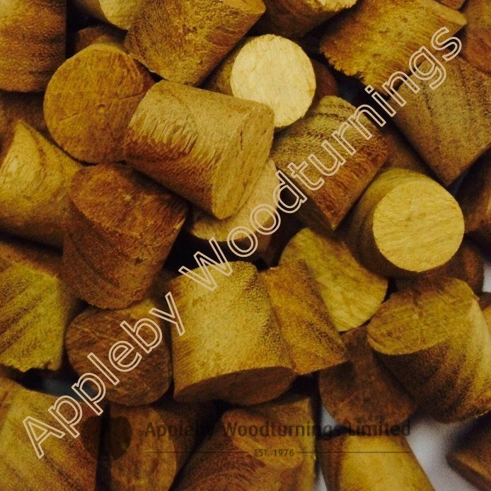 """1/2"""" Afromosia Tapered Wooden Plugs 100pcs"""