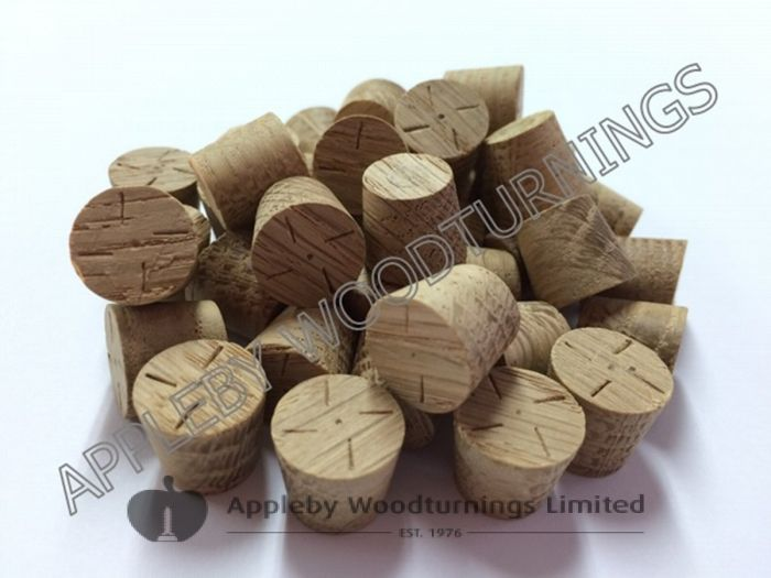 "1/2"" American White Oak Tapered Wooden Plugs 100pcs"