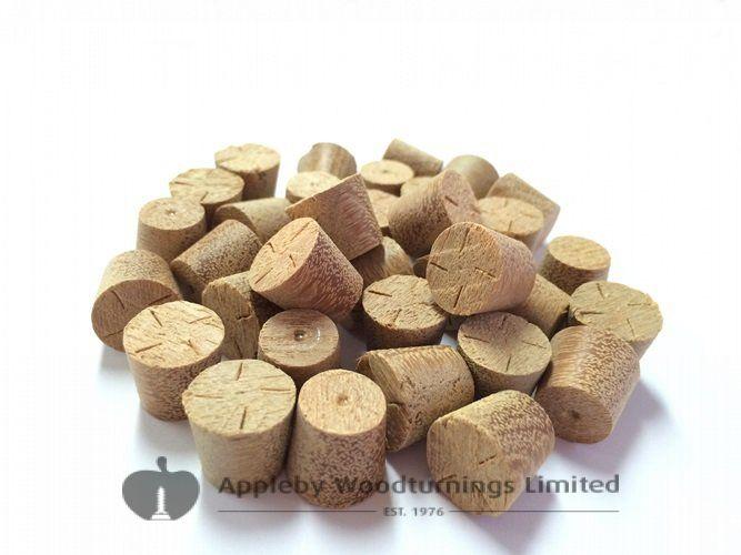 """1/2"""" Balau Tapered Wooden Plugs 100pcs"""