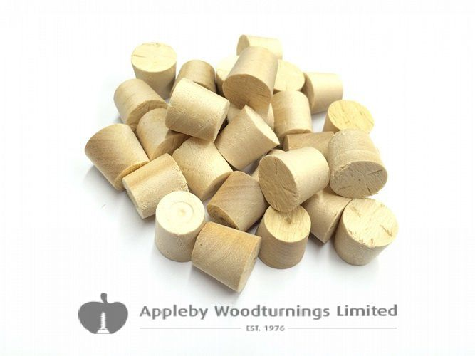 28mm Birch Tapered Wooden Plugs 100pcs