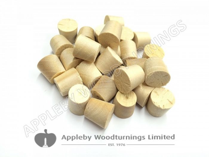 "1/2"" Birch Tapered Wooden Plugs 100pcs"