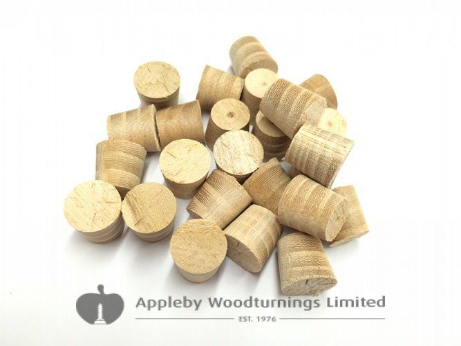 """1/2"""" Elm Tapered Wooden Plugs 100pcs"""