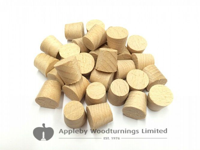 "3/8"" Pollmeier Beech Tapered Wooden Plugs 100pcs"