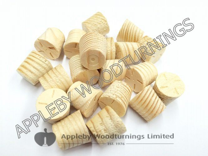 "1/2"" Softwood / Pine Tapered Wooden Plugs 100pcs"