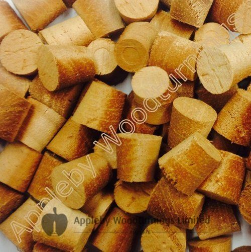 "1/2"" African Mahogany Tapered Wooden Plugs 100pcs"