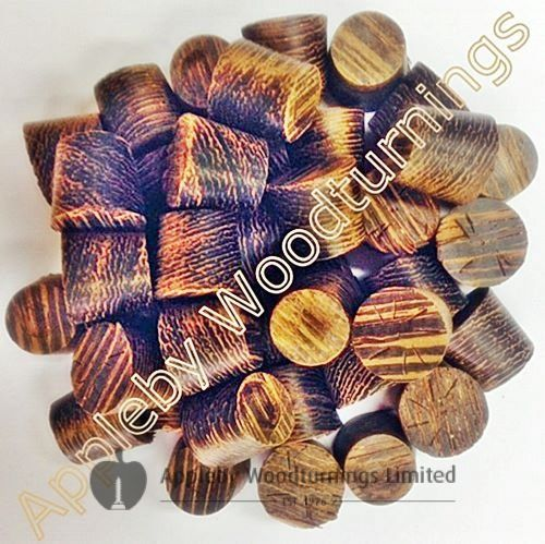 """3/8"""" Wenge Tapered Wooden Plugs 100pcs"""