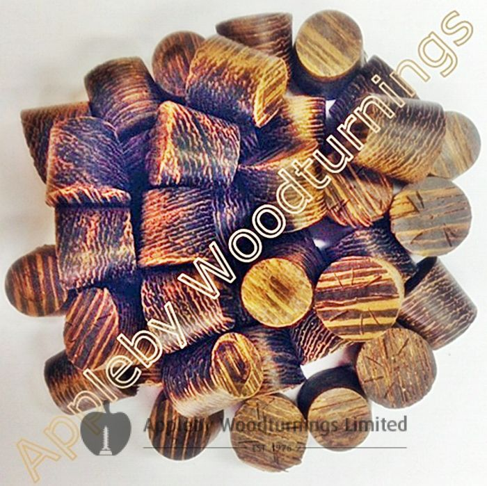 "1/2"" Wenge Tapered Wooden Plugs 100pcs"