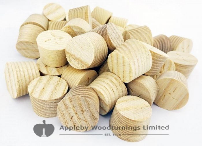 20mm Ash American White Tapered Wooden Plugs 100pcs