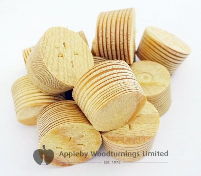 25mm Larch Tapered Wooden Plugs 100pcs