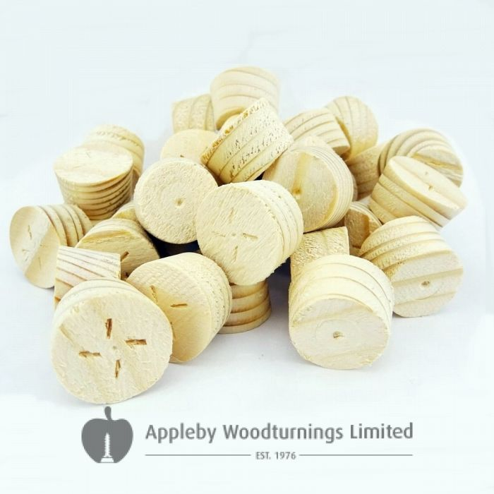 21mm Spruce Tapered Wooden Plugs 100pcs