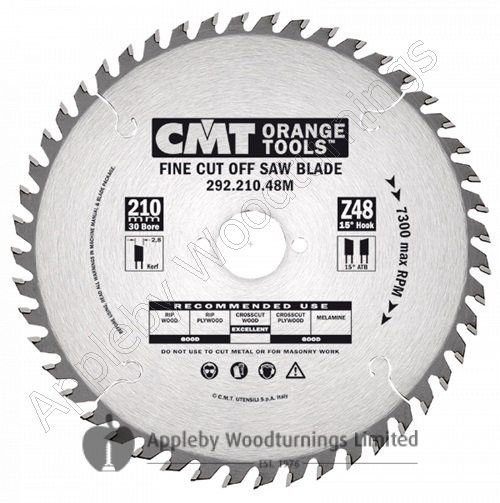 216mm Z=48 Neg CMT Mitre / Cross Cut Saw Blade 291.216.48M