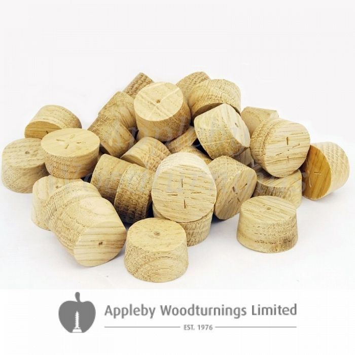 22mm European Oak Tapered Wooden Plugs 100pcs