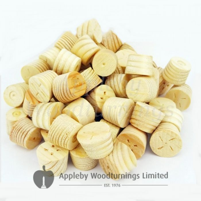 22mm Softwood / Pine Tapered Wooden Plugs 100pcs