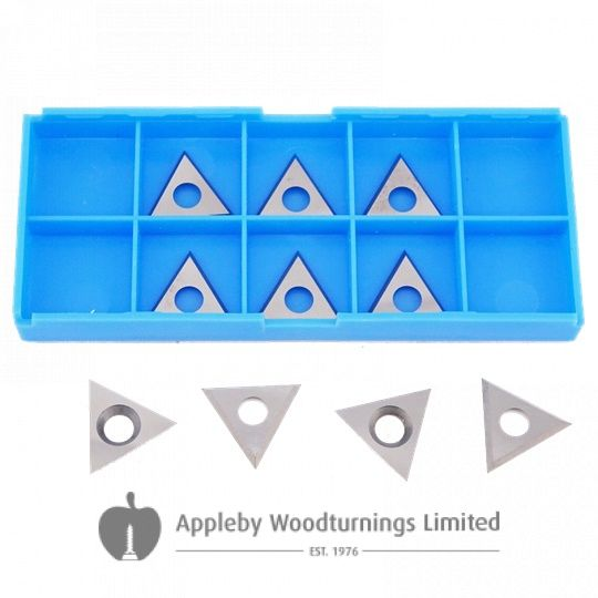 22 x 22 x 2mm Solid Carbide Triangle Spur Tips to suit Leuco 180779 - 10pcs