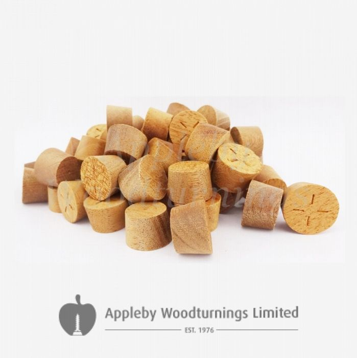 21mm Sapele Tapered Wooden Plugs 100pcs