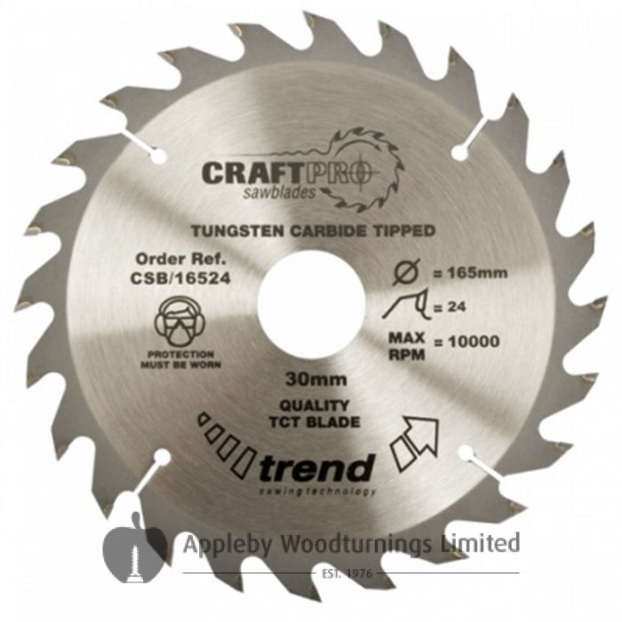 190mm Z=24 ATB Id=16 Trend Table / Rip Saw Blade CSB/19024A