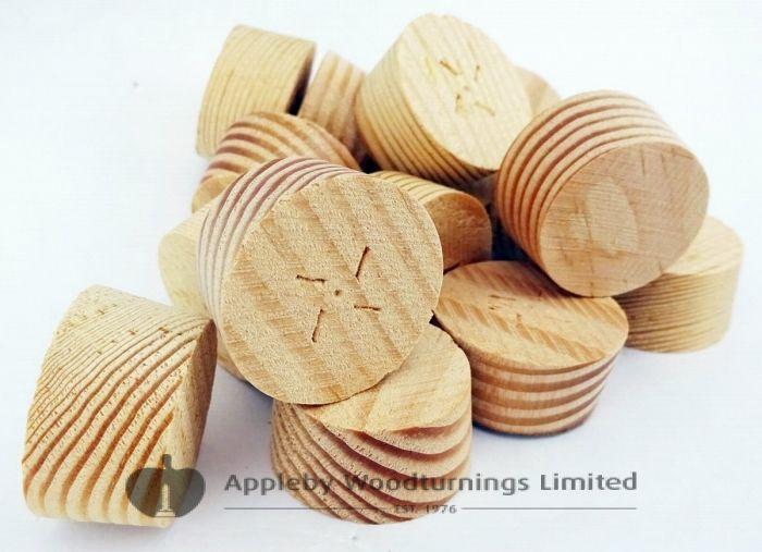 25mm Douglas Fir Tapered Wooden Plugs 100pcs