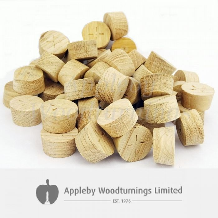 26mm European Oak Tapered Wooden Plugs 100pcs