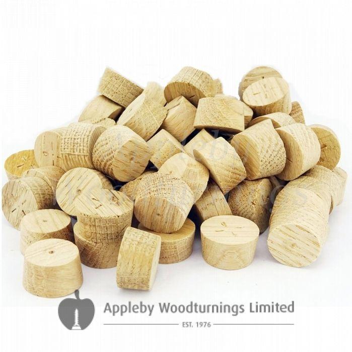 28mm European Oak Tapered Wooden Plugs 100pcs