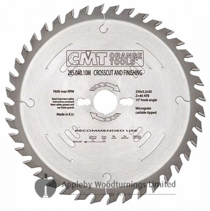 254mm Z=48 ATB Id=30 CMT Mitre / Cross Cut Saw Blade