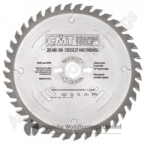 254mm Z=60 Neg CMT Cross Cut Saw Blade  294.060.10M