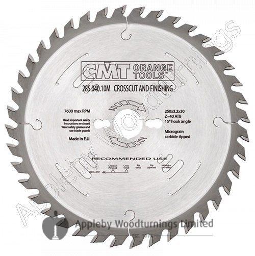 260mm dia 30mm Bore Z=60 2.4mm Kerf Negative Mitre/Snip Saw Blade CMT