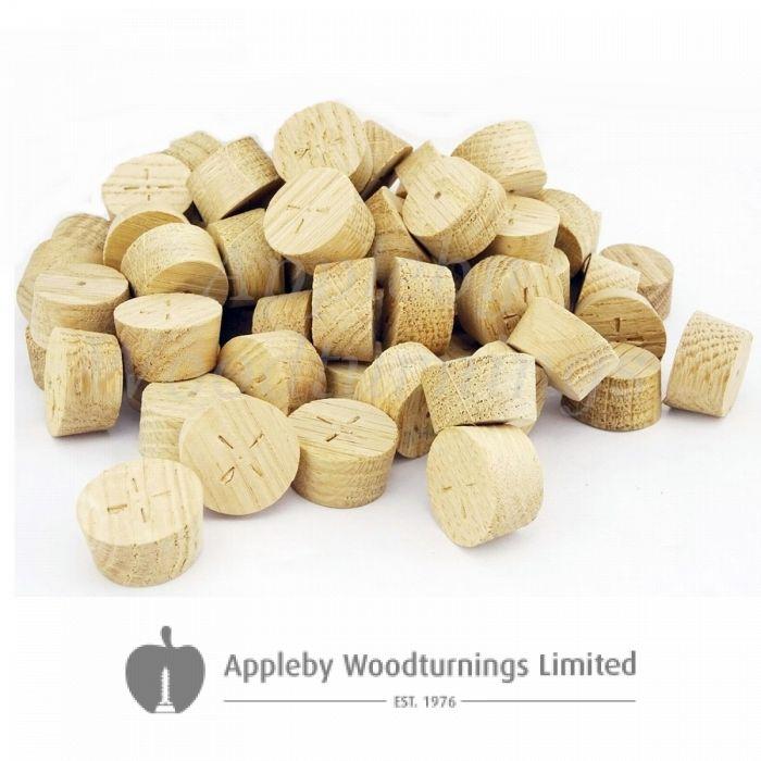 29mm European Oak Tapered Wooden Plugs 100pcs