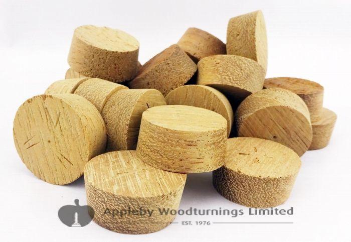 27mm Iroko Tapered Wooden Plugs 100pcs