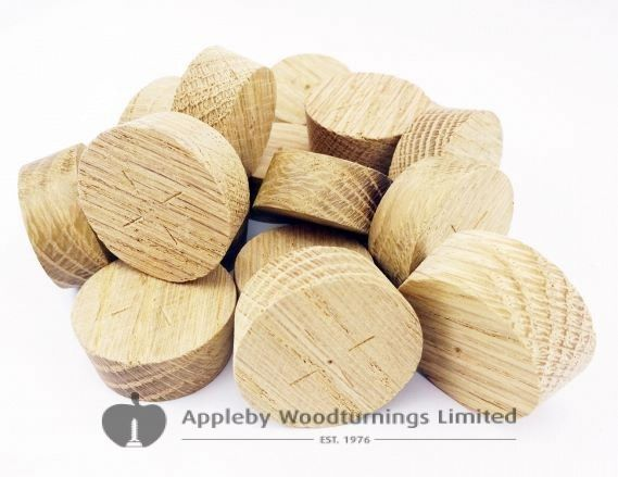 32mm American White Oak Tapered Wooden Plugs 100pcs