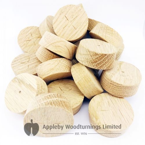35mm European Oak Tapered Wooden Plugs suitable for Kitchen Doors 100pcs