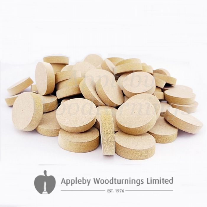 28mm Brown MDF Tapered Wooden Plugs 100pcs