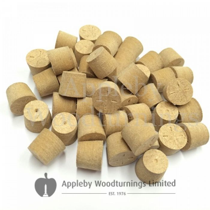 "1/2"" Brown MDF Tapered Wooden Plugs 100pcs"