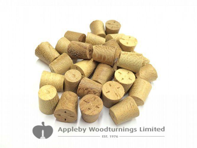 "3/8"" Iroko Tapered Wooden Plugs 100pcs"