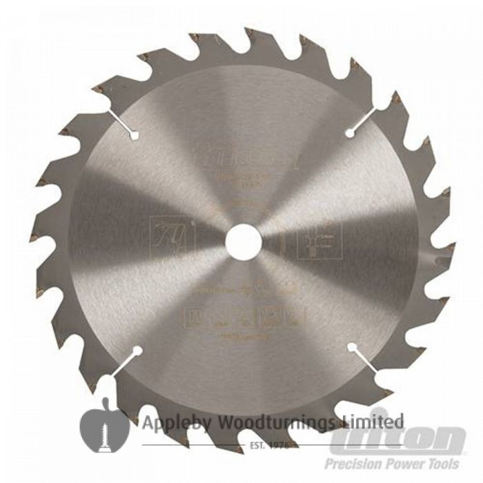 190mm Z=24 ATB Id=30 Triton Table / Rip Saw Blade 20+25mm Rings Included 577375