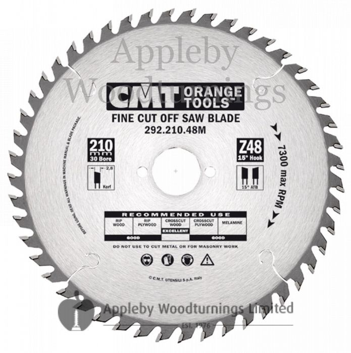 240mm Z=48 Id=30 CMT Hand Held / Portable Saw Blade To Fit Festool AXP85
