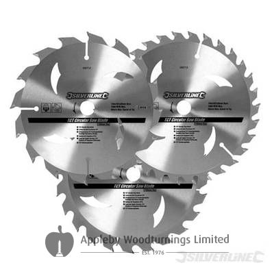 3 Pack 160mm TCT Circular Saw Blades to suit AEG KK55A  HK55BHK160A/B  HK55