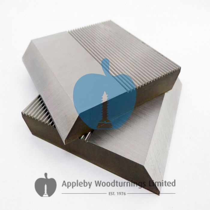 1 Pair HSS Serrated Profile Blanks 60 x 60 x 8mm